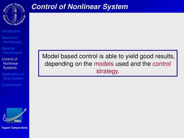 Control of Nonlinear System