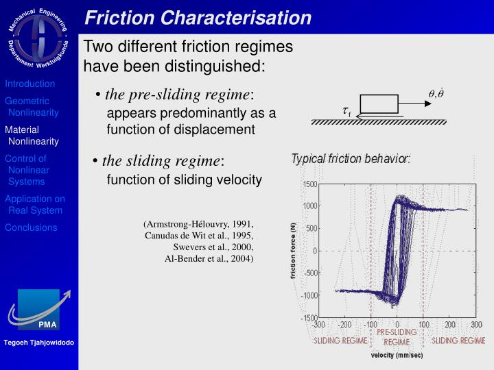 Friction Characterisation