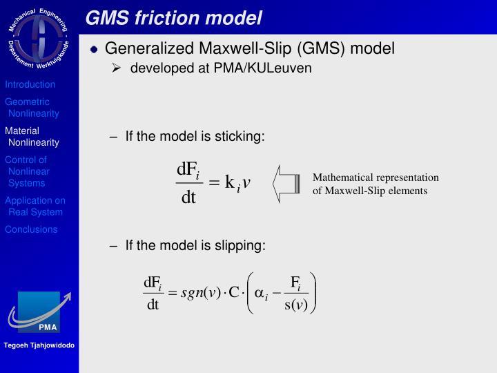 GMS friction model