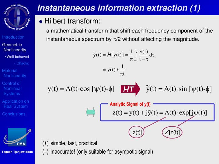 Instantaneous information extraction (1)