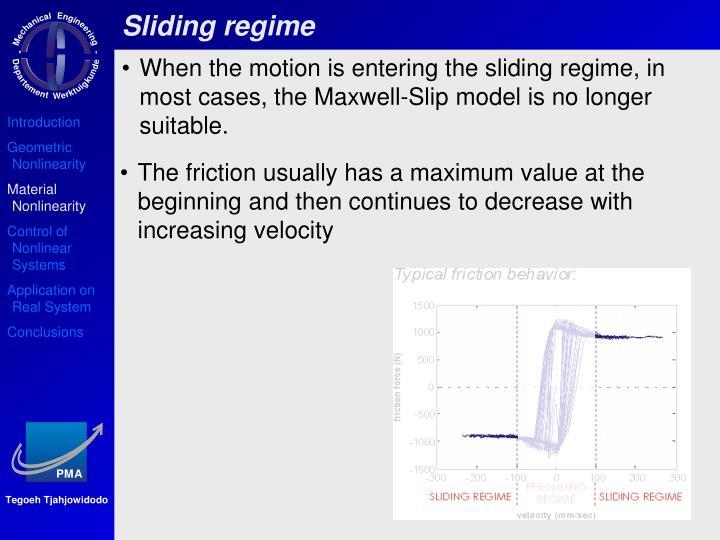 Sliding regime