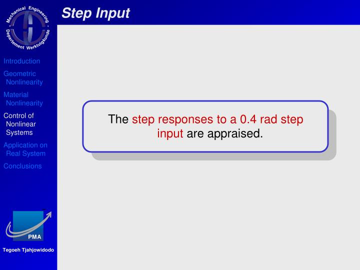 Step Input