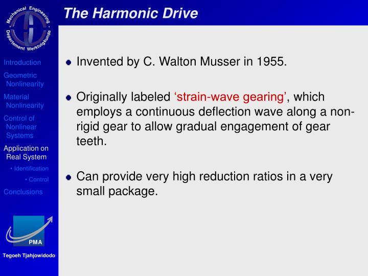 The Harmonic Drive