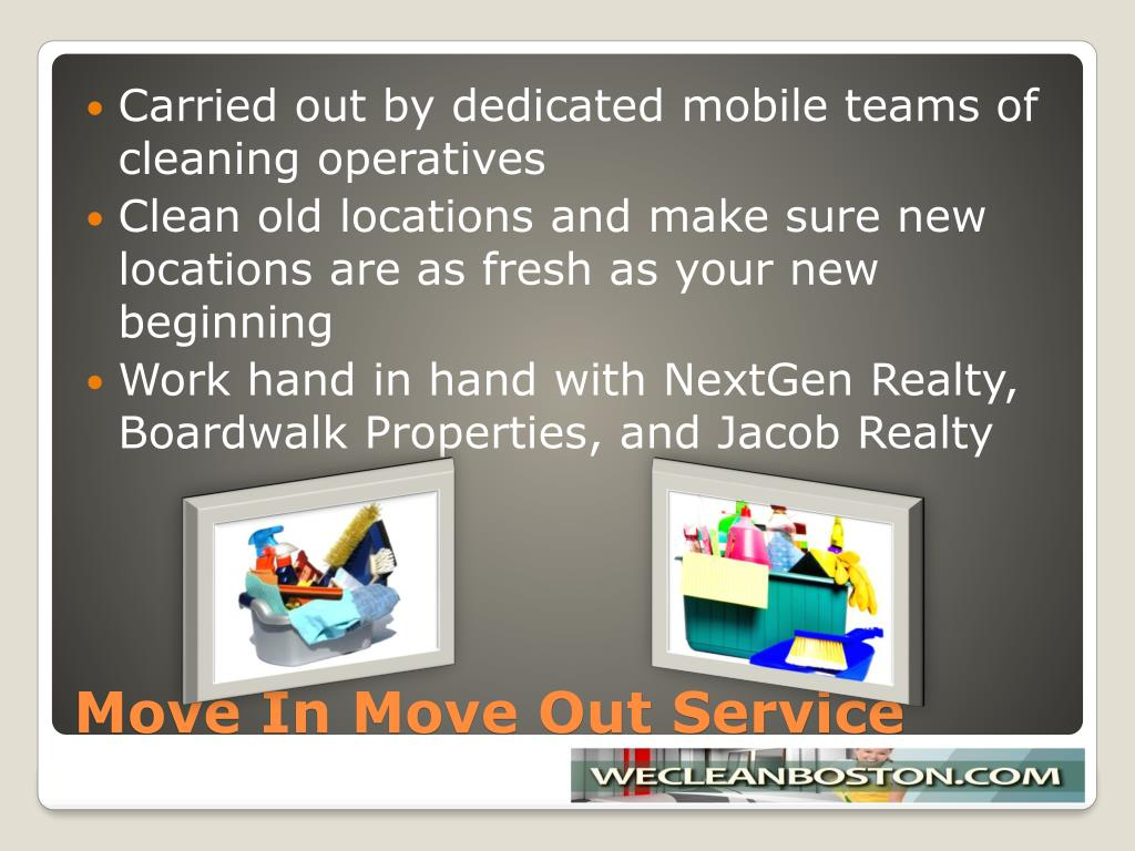 Carried out by dedicated mobile teams of cleaning operatives