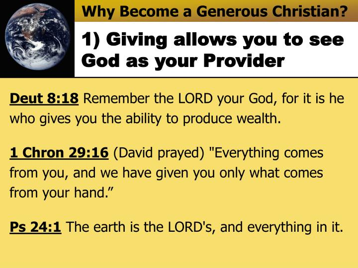 Why Become a Generous Christian?