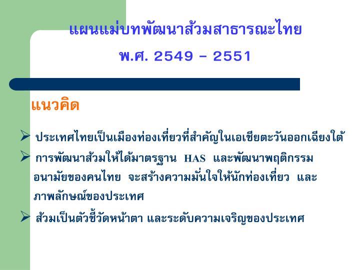 แผนแม่บทพัฒนาส้วมสาธารณะไทย