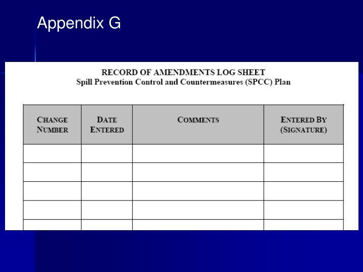 Appendix G