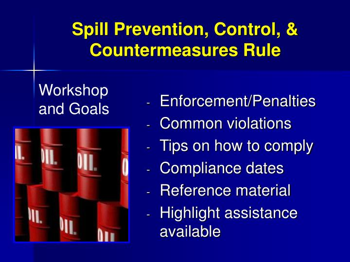 Spill prevention control countermeasures rule1