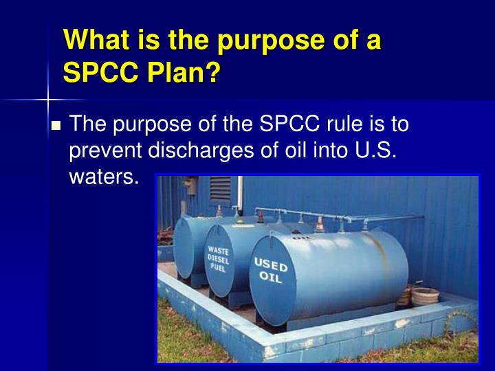 What is the purpose of a SPCC Plan?