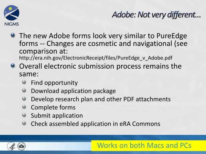 Adobe: Not very different…
