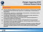 changes happening now enhanced review criteria5