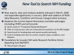 new tool to search nih funding
