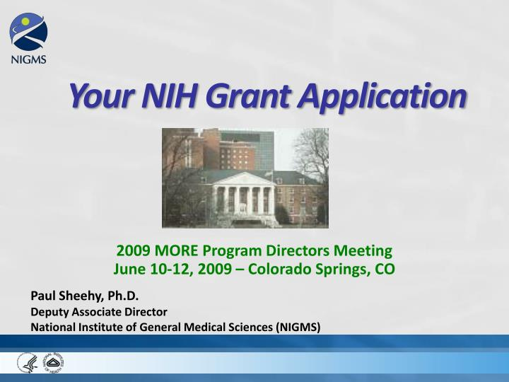 Your nih grant application