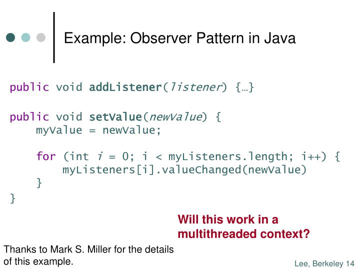 Example: Observer Pattern in Java