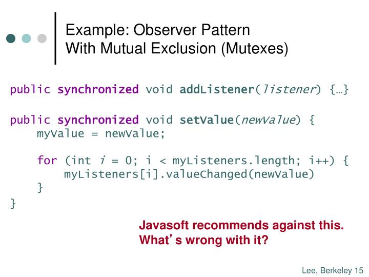 Example: Observer Pattern
