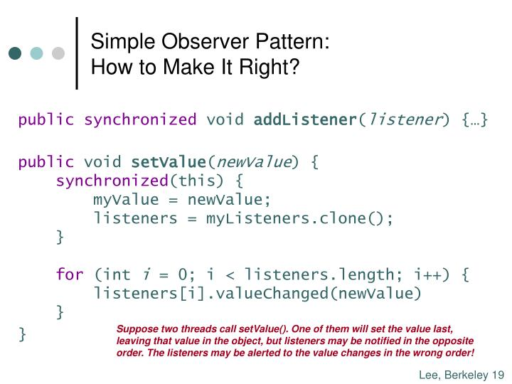 Simple Observer Pattern: