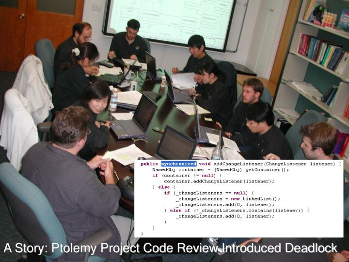 A Story: Ptolemy Project Code Review Introduced Deadlock