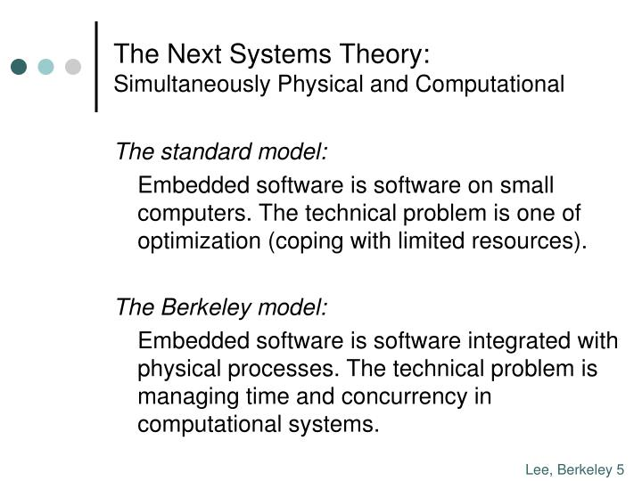 The Next Systems Theory: