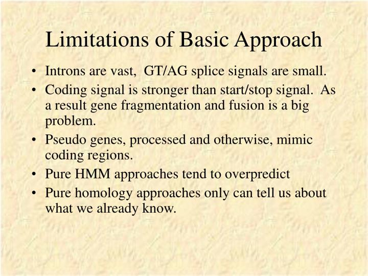 Limitations of Basic Approach