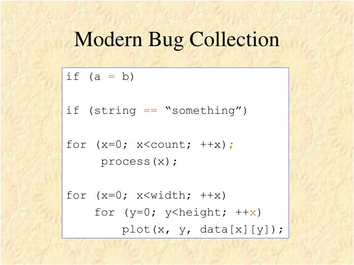 Modern Bug Collection