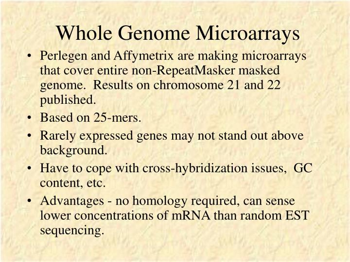 Whole Genome Microarrays