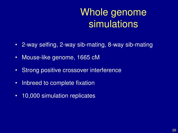 Whole genome simulations