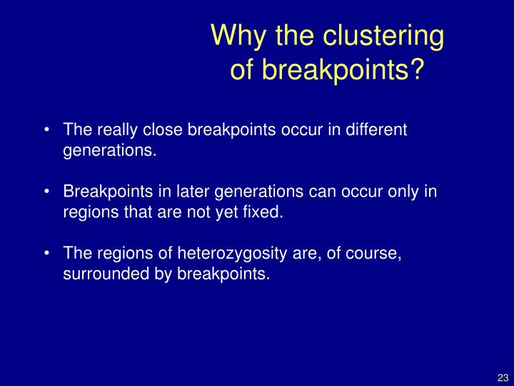 Why the clustering