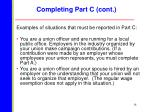 completing part c cont