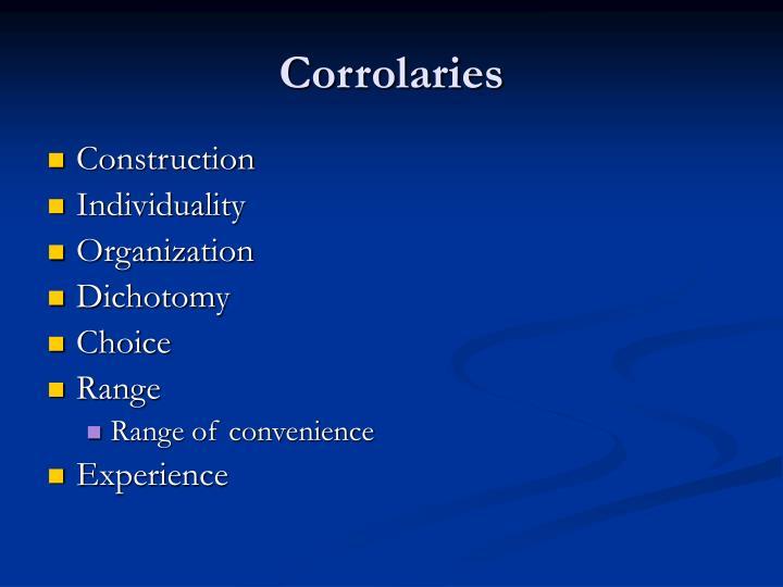 Corrolaries