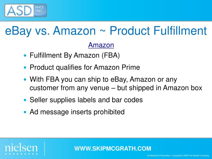eBay vs. Amazon ~ Product Fulfillment
