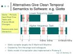 alternatives give clean temporal semantics to software e g giotto