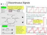 discontinuous signals