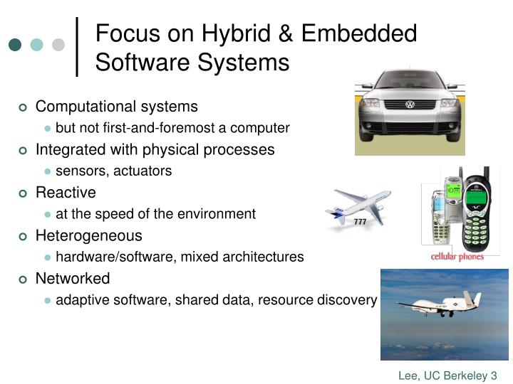 Focus on hybrid embedded software systems