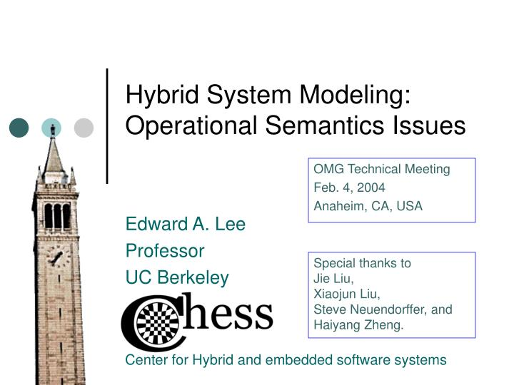 Hybrid system modeling operational semantics issues