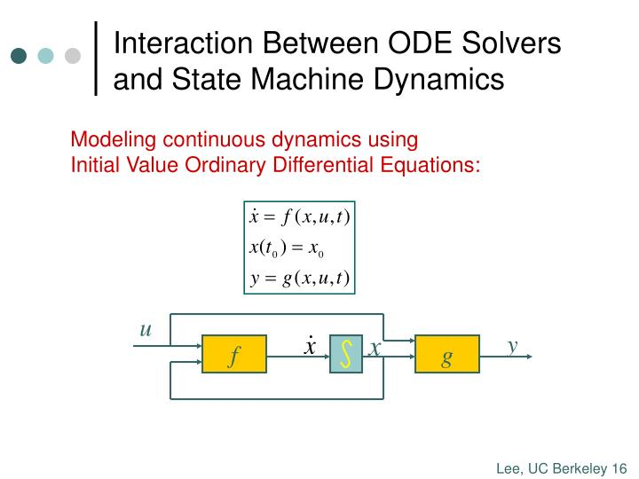 Interaction Between ODE Solvers and State Machine Dynamics