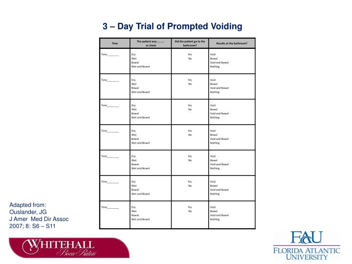 3 – Day Trial of Prompted Voiding