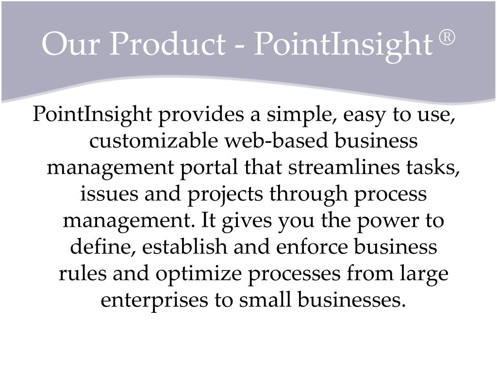 Our Product - PointInsight