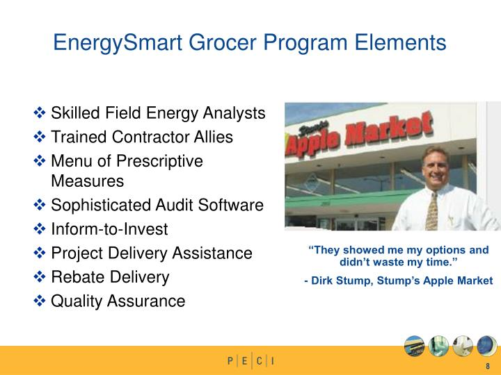 EnergySmart Grocer Program Elements