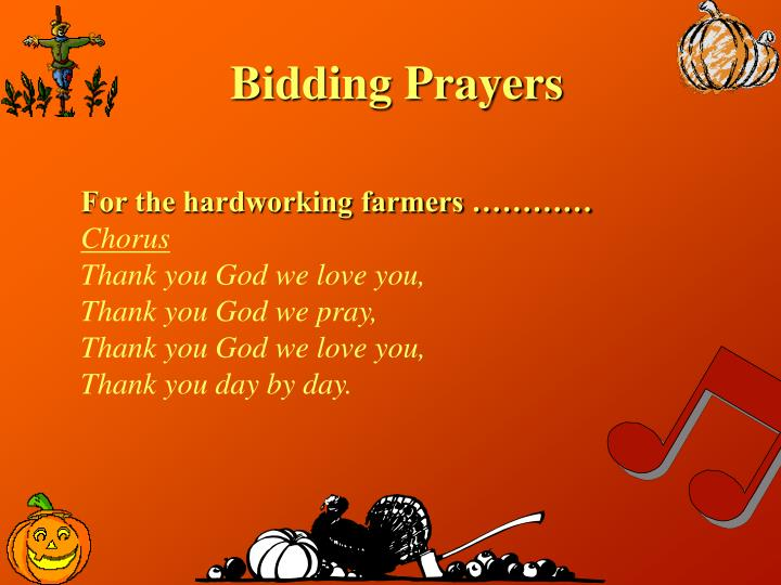 Bidding Prayers