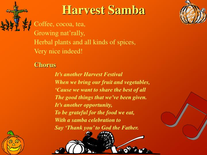 Harvest Samba