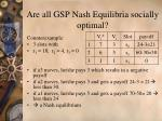 are all gsp nash equilibria socially optimal