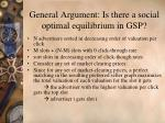 general argument is there a social optimal equilibrium in gsp