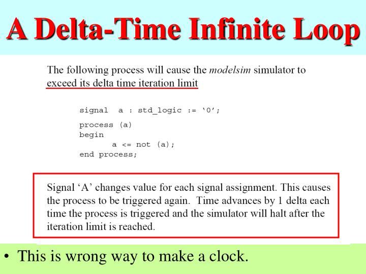 A Delta-Time Infinite Loop