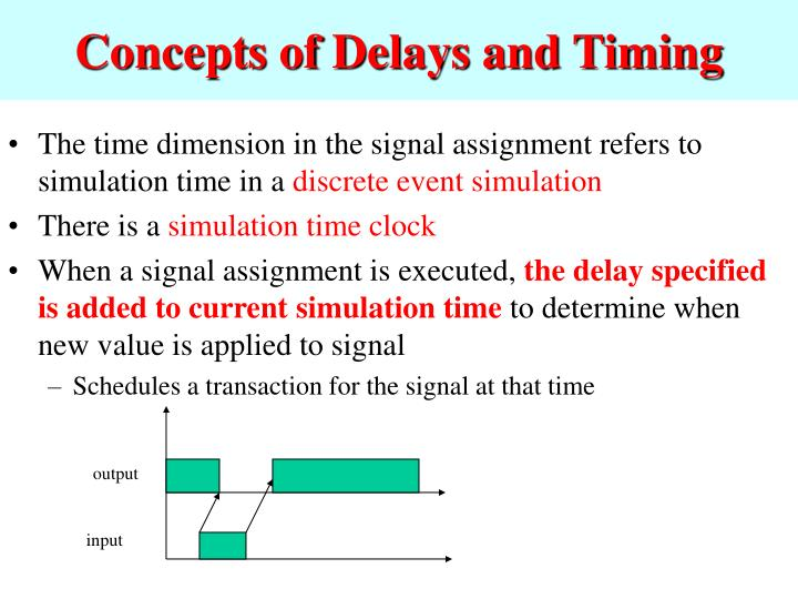 Concepts of Delays and Timing