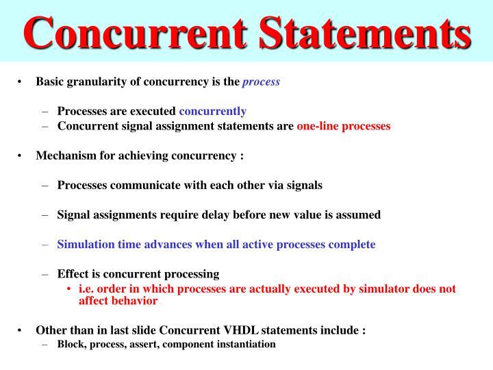 Concurrent Statements