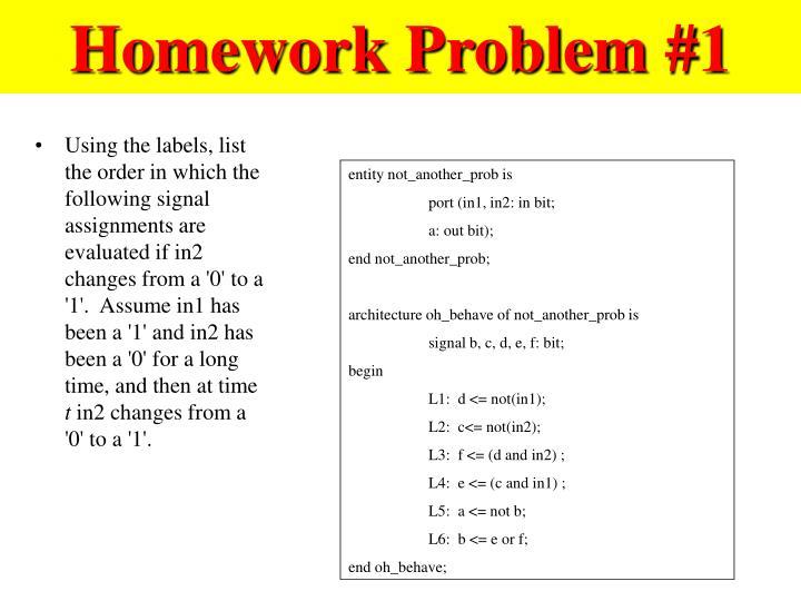 Homework Problem #1
