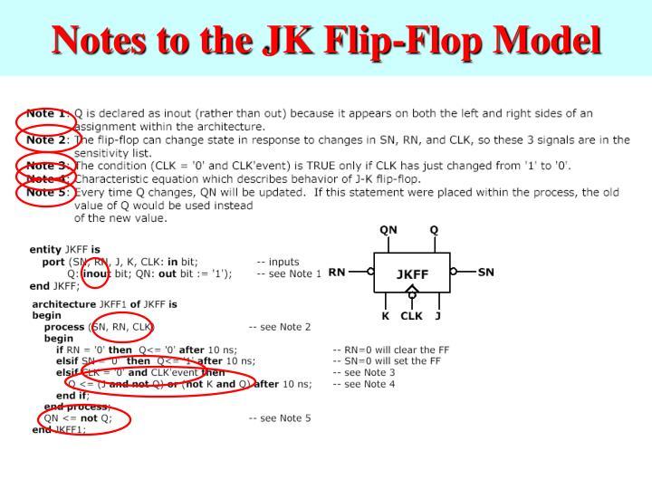 Notes to the JK Flip-Flop Model