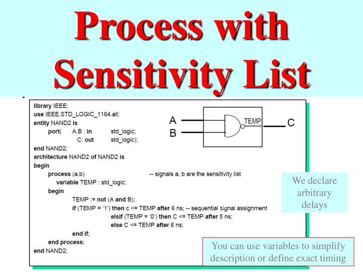Process with Sensitivity List