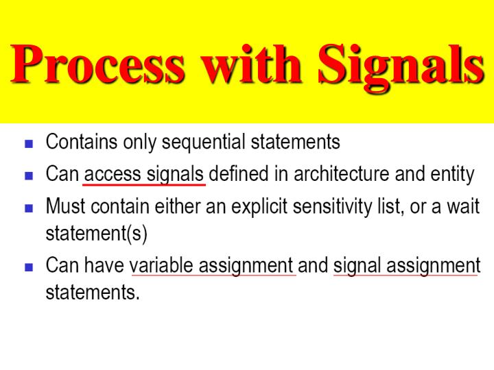 Process with Signals