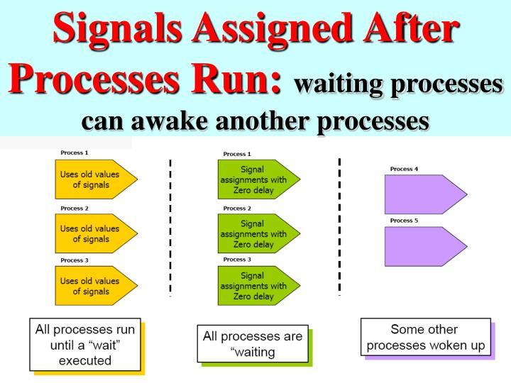 Signals Assigned After Processes Run: